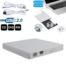 цена на Hot DVD+RW Super Multi DVD USB External Combo Optical Drive CD/DVD Player CD Burner for PC Laptop Win 7 8 Recordable CD-ROM