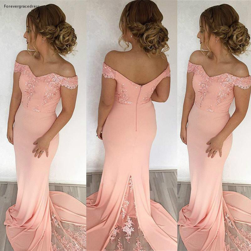 2019 New Arrival Summer Spring Bridesmaid Dress Pink Garden Formal Wedding Party Guest Maid Of Honor Gown Plus Size Custom Made