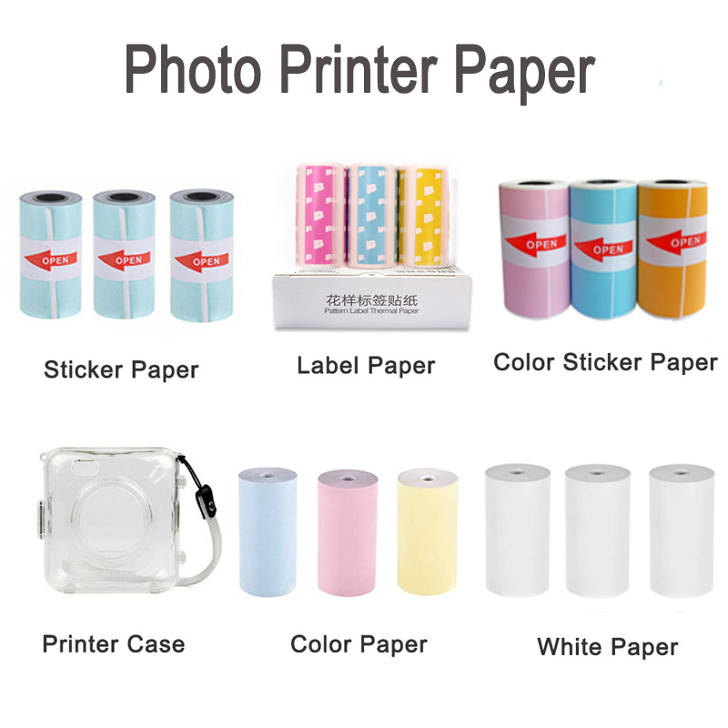 Thermal Paper Label Paper Sticker Paper For PeriPage PAPERANG Photo Printer