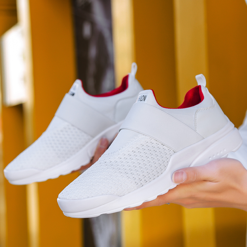 Damyuan 2020 Men's Casual Shoes Plug Size Super Light Breathable Running Shoes Slip-on Sneakers Outdoor Jogging Walking Tenis