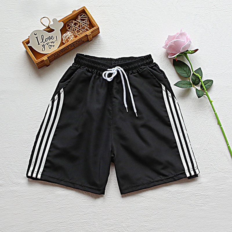 Summer Thin Section Students Sports Shorts Men Korean-style Loose-Fit Stripes Casual Shorts Pants Hong Kong Style Trend Men's Tr