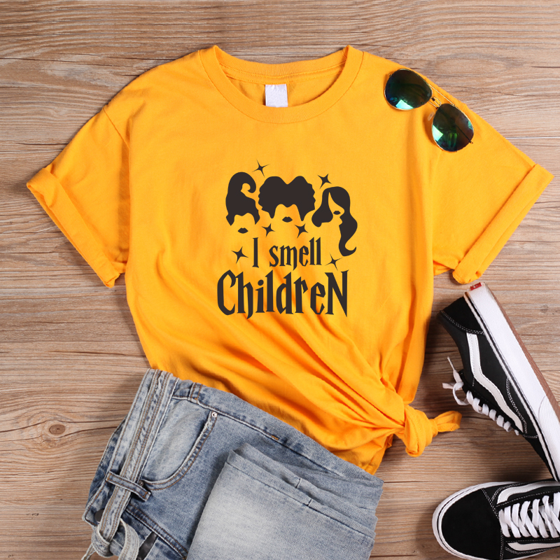 ONSEME Funny I Smell Children Graphic T Shirts Female Harajuku Halloween Horror Style T Shirt Gothic Tees Vacation Gift Tops