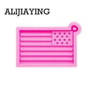 DY0293 concepção arte liso moldes bandeira americana Porta chaves de silicone moldes de resina epoxi do molde do molde DIY 2020 Trump craf|Moldes de argila| |  -