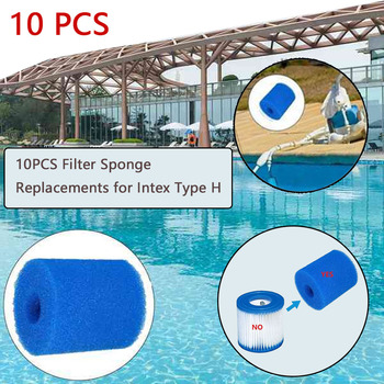 10PCS Filter Sponge Replacements for Intex Type H Washable Reusable Swimming Pool Filter Foam Sponge Cartridge 1pcs swimming pool filter foam reusable washable for intexs s1 type pool filter sponge cartridge suitable bubble jetted pure spa
