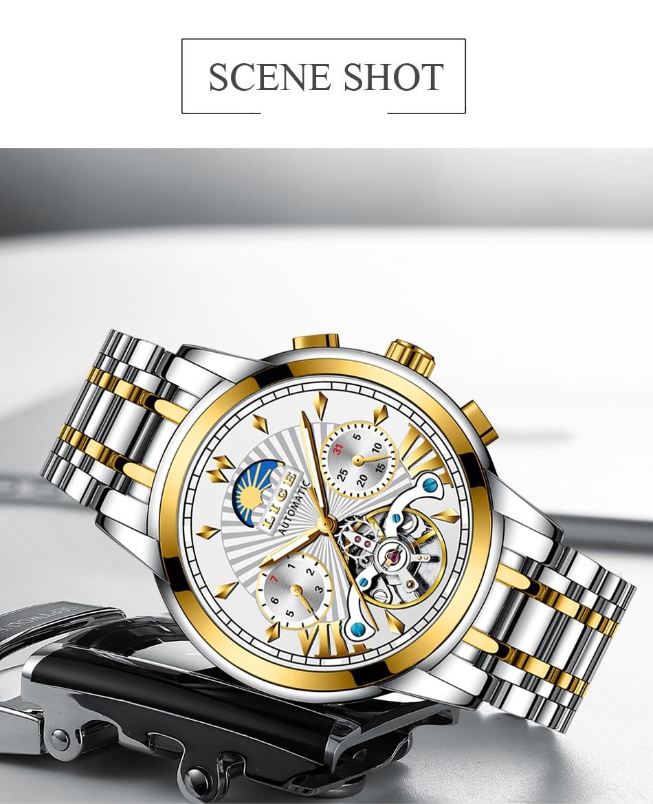 H18359c94ea514034aa77806e8ccf03fbv LIGE Official Store Mens Watches Top Brand Luxury Automatic Mechanical Business Clock Gold Watch Men Reloj Mecanico de Hombres