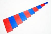 Montessori matematyka Montessori edycja domowa profesjonalna edycja czerwona i niebieska cyfra pręty Monte pomoce nauczycielskie dzieci ENLIGH w Matematyka od Artykuły biurowe i szkolne na