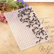 HOT Plastic Dot Lace Template Craft Card Making Paper Card Album Wedding Decoration Scrapbooking Embossing Folders dot lace plastic scrapbooking embossing folders template craft paper card making album wedding decoration supplies