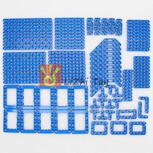 Image 3 - 120 шт., технические детали, 6 цветов, Liftarm, толстые строительные блоки, набор аксессуаров, механический луч, основная часть, DIY игрушки для детей