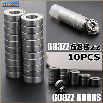 10PCS   688ZZ/693ZZ/608RS/608ZZ Bearing ABEC-5 1 Miniature Mini Ball Bearings Parts Deep Groove Flanged Pulley Wheel axk 608zz 623zz 624zz 625zz 635zz 626zz 688zz 10pcs abec 7 ball bearing 3d printers parts deep groove ball bearings