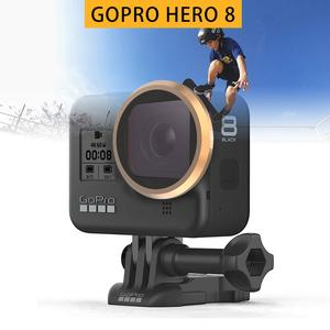 Image 2 - Gopro hero 8 용 다층 코팅 렌즈 필터 gopro 8 카메라 액세서리 용 mcuv/cpl/nd4 8 16/star/15x 매크로 필터