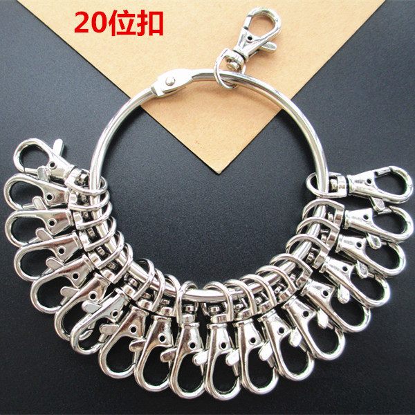 Large Key Ring Ring Car Key Ring Polycyclic with Numbers Marking Key Disk Hotel Landlord Multi Purpose Key Disk Key Case for Car     - title=