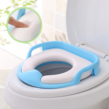 Children's Toilet Seat Cover Pad Baby Toilet Baby Potty Infant Training Seat Kids Toilet Convenient Child Daily Necessities round bathroom adult toilet seat with built in child potty training seat elongated white toilet seat cover bathroom accessories
