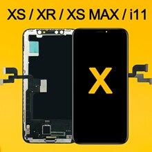 AAA עבור iPhone X OLED LCD תצוגה עבור IPhone XS XR מקס Inell LCD 11 מסך מגע החלפת Digitizer עצרת חלקי OEM OLED