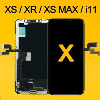 AAA pour laffichage à cristaux liquides doled de liphone X pour liphone XS XR MAX Inell LCD 11 pièces dassemblage de remplacement de numériseur décran tactile OEM OLED