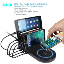 YHONH Fast Wireless Charger For iphone Samsung Qc 3.0 Quick