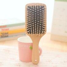 цена на Natural Wooden Massage Comb Hair Scalp Health Care Paddle Hairbrush Tool High Quality Lotus Wood Airbag Anti-Static Massage Comb