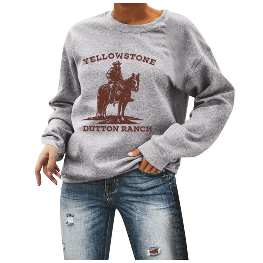 Sagace Clothes 2020 Stylish Pullover Sweatshirts Women Funny Horse Printed Sweatshirts Tops Pullvoers Long Sleeve Толстовка