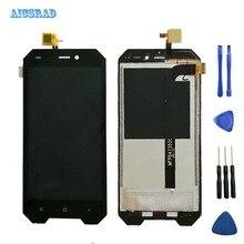AICSRAD dla 4.7 cal Blackview BV4000 wyświetlacz LCD + ekran dotykowy 100% testowany ekran wymiana Digitizer zespołu BV 4000 Pro
