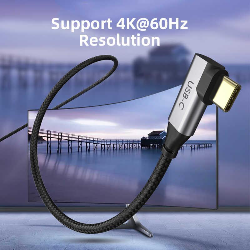 2020 cabletime usb c hdmi 90 度ケーブルアダプタhdmiタイプc 4 18k 60 60hz huawei社mate30/20 P40/30 プロサムスンxiaomi C030