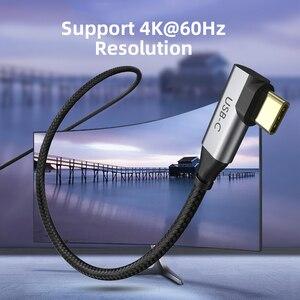 Image 2 - Cable adaptador USB C a HDMI de 90 grados, Cable tipo C a HDMI 4K 60Hz para Huawei Mate30/20 P40/30 Pro, Samsung, Xiaomi C030, 2020