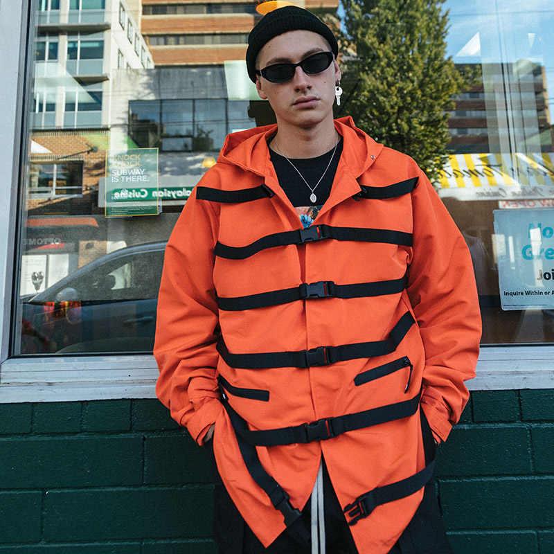 2020 Hip Hop Áo Khoác Áo Gió Nam Harajuku Dạo Phố Khóa Nơ Áo Hoodie Áo Khoác Dây Kéo Theo Dõi Áo Khoác Áo Khoác Quá Khổ Mùa Thu