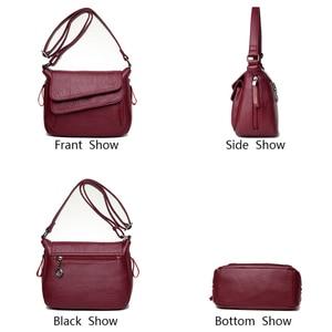 Image 5 - Zima biała torebka miękka skóra luksusowe torebki damskie torebki projektant kobiet torba na ramię torby dla mam dla kobiet 2020