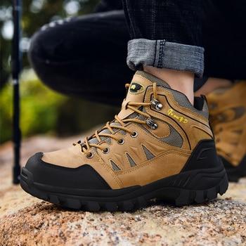 Jackshibo Men's Outdoor Hiking Shoes Mountaineer Climbing Sneakers Waterproof Tactical Hiking Shoes Men Camping Walking Boots 4