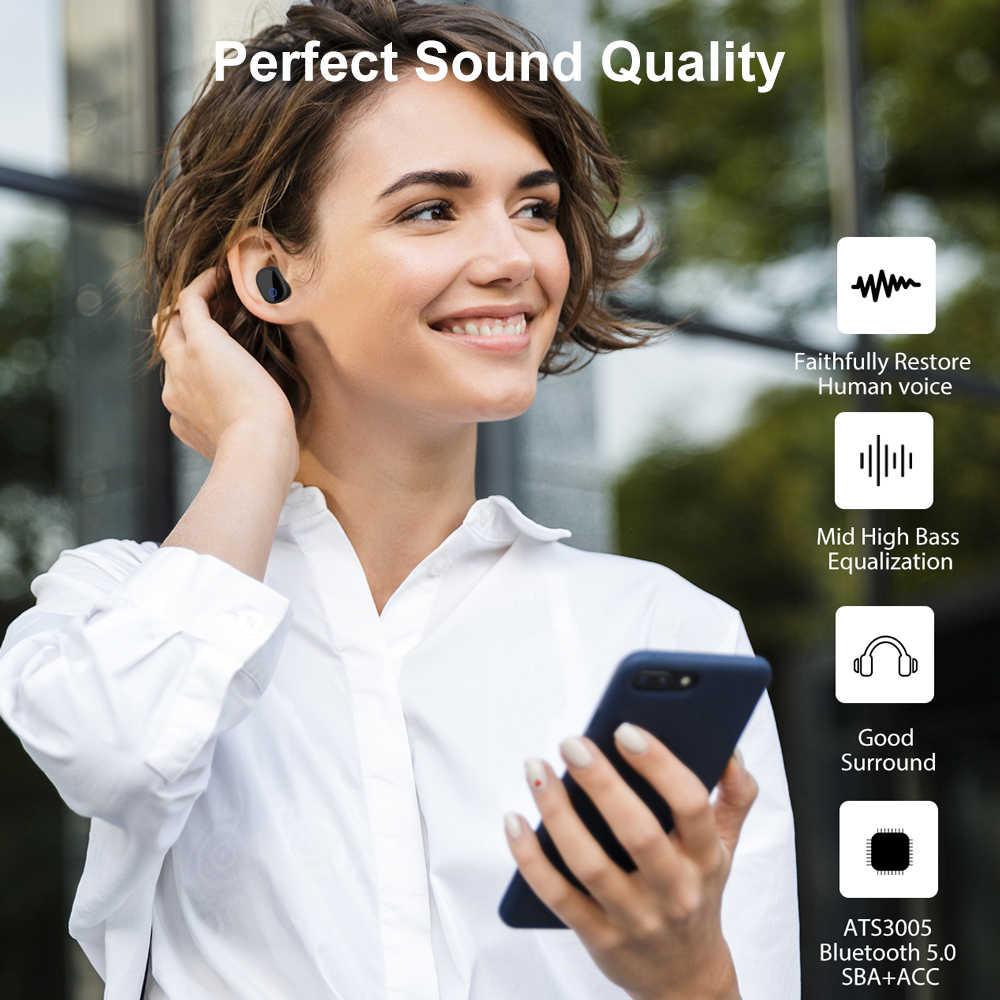 Auriculares inalámbricos Bluetooth auriculares TWS 5,0 auriculares deportivos micrófono para IPhone Huawei Xiaomi Airdots Samsung Android