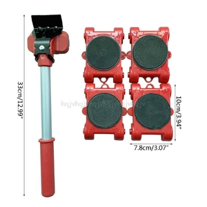 Image 4 - Двигатель мебели инструмент транспортировки подъемник ТЯЖЕЛЫЕ ПРОДУКТЫ перемещение 4 колесный ролик с 1 барные сеты D23 19; Прямая поставка
