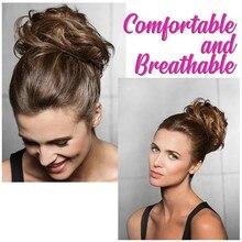 Эластичная веревка для волос 18 цветов для женщин девочек настоящие человеческие натуральные кудрявые грязные Булочки Кольцо-повязка для волос поддельные волосы для наращивания головная повязка
