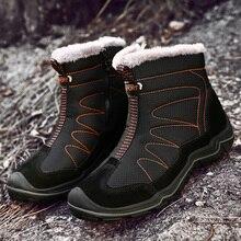Schnee Stiefel für Männer Plüsch Wasserdichte Slip Männer Stiefel Plattform Dick Resistent Winter Schuhe Plus Größe 38 46 Wärmsten winter Schuhe