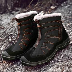 Image 1 - Snow Boots for Men Plush Waterproof Slip Men Boots Platform Thick Resistant Winter Shoes Plus Size 38 46 Warmest Winter Shoes