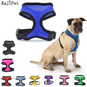 Pets Dog Harness No Pull Vest With Collar Nylon Net Breathable Breast-Band Safety For Dogs Collars And Harnesses