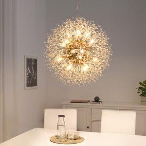 Image 4 - Kar tanesi avize İskandinav tarzı lamba yaratıcı kişilik kristal modeli atmosfer ışığı lüks oturma odası aydınlatma