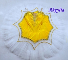 Children Yellow Swan Ballet Skirt for Kids Costume Adult Ballerina Dress For Girls Dancewear