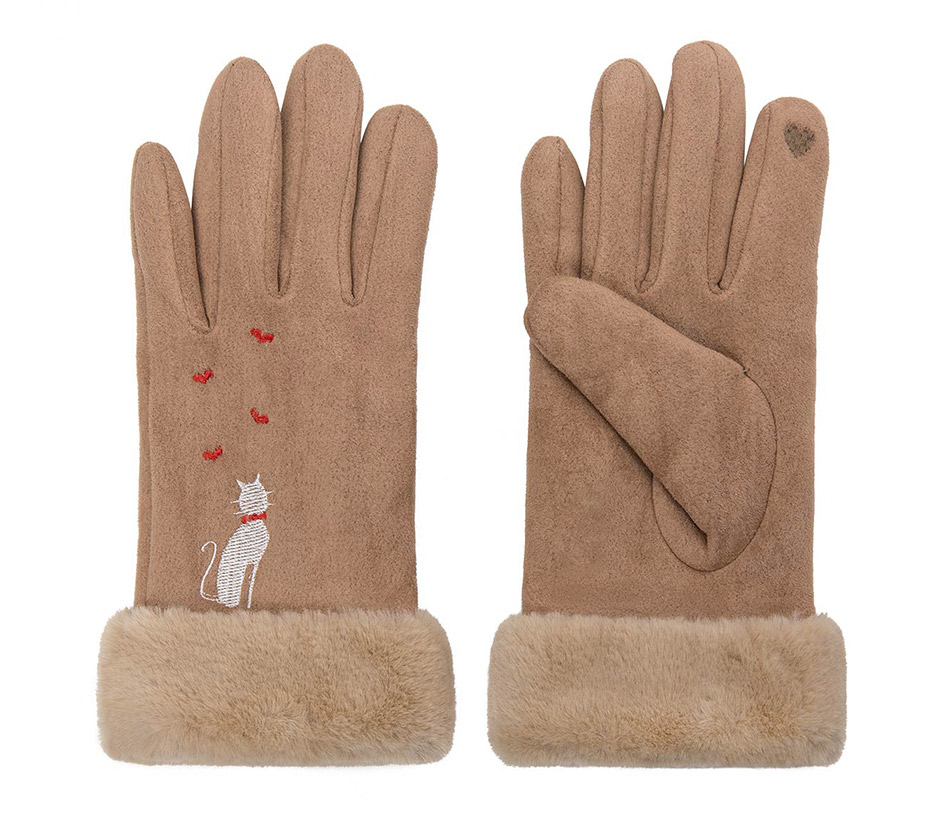 Winter Women Touch Screen Gloves with Embroidery made with a Special Conductive Fabric into Finger Tips for fast Navigation of All Touch Screen Device 18