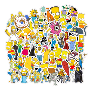 50pcs/Lot Funny Anime Cartoon Simpsons Graffiti Stickers for Car Moto & Suitcase Cool Laptop Stickers Kids Sticker Sticker