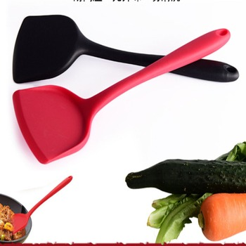 Wysokiej jakości żywności klasy silikonowe narzędzia do pieczenia łopata kuchnia łopatka ciasto kremem mikser skrobak łyżka z długą rączką Pala tanie i dobre opinie Ekologiczne Naczynia FS418037 Tokarstwo