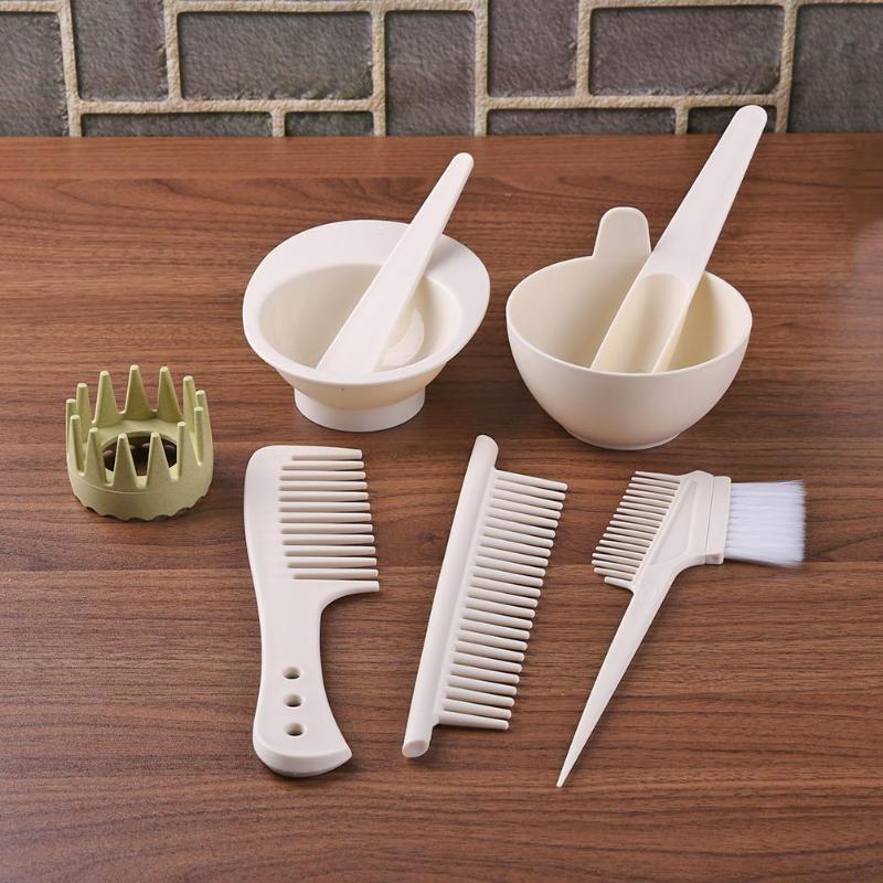 8pcs/Set Hair Color Mixing Bowls Plastic Home DIY Hair Dying Tools Kit Salon Hair Dye Set Hair Styling Tools