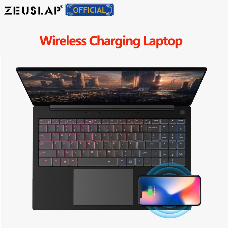 "ZEUSLAP Wireless Charging 15.6"" Business Laptop 8GB RAM+1TB SSD Intel Core I3 CPU 1920X1080P FHD Ultrathin Notebook Computer"