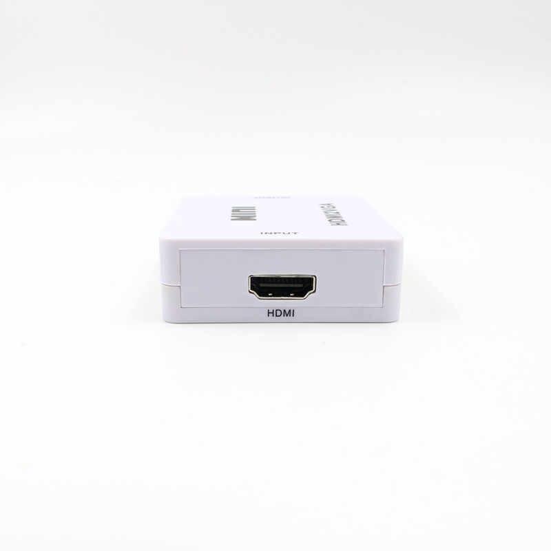 Видео конвертер HD 1080P Mini HDMI к VGA адаптер 3,5 мм Джек аудио Выход HDMI2VGA В комплект поставки входит адаптер для ноутбука для HDTV