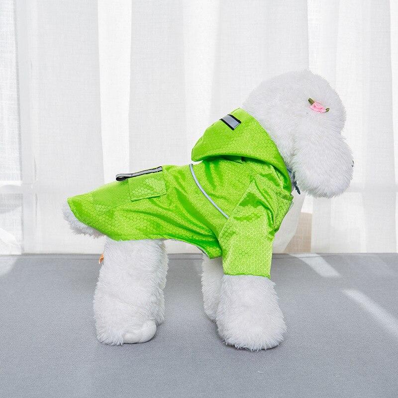 small dog raincoat with hood