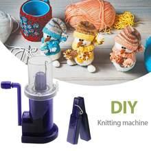 Criativo máquina de tricô diy mão-embelezado tear spool knitter embelezar artesanato pulseira tecer ferramenta de costura acessórios