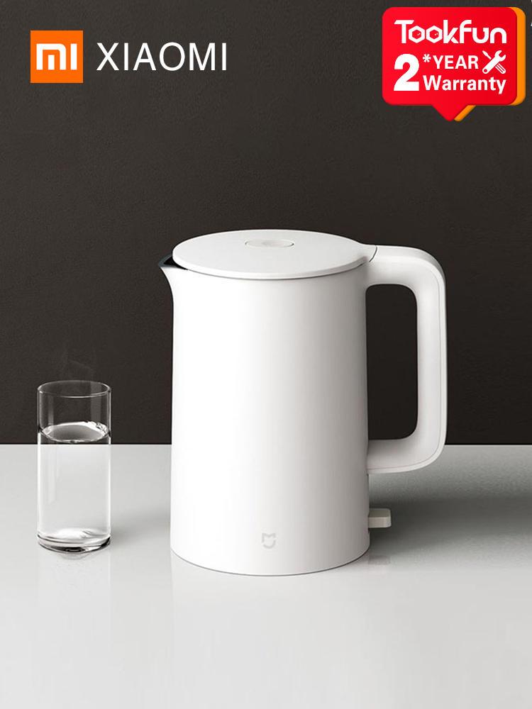 Электрический чайник XIAOMI MIJIA 1A, чайник из нержавеющей стали для быстрого кипения, интеллектуальный контроль температуры, защита от перегрев...