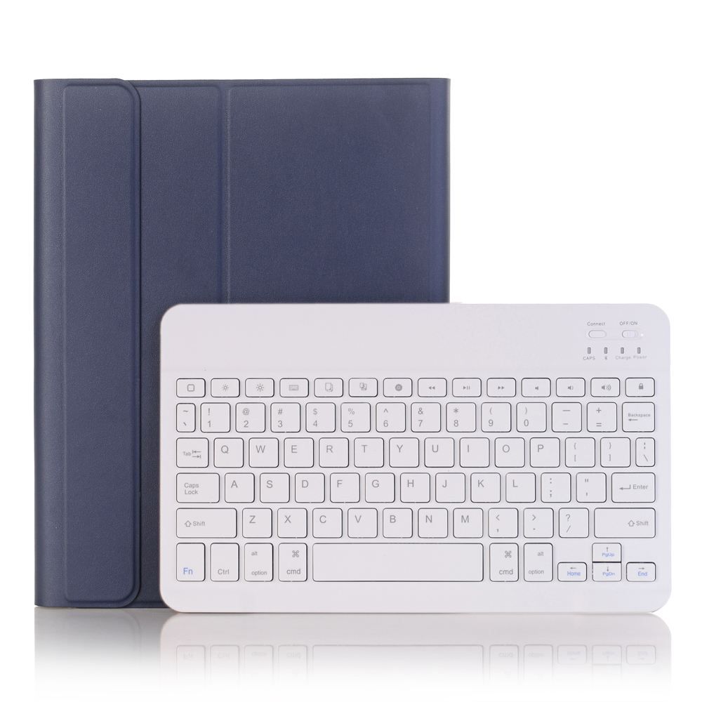 Blue with White Green For iPad 10 2 2019 2020 Keyboard Case with Pencil Holder for Apple iPad 7th 8th