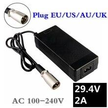 2A 29.4V charger for 24V 25.2V 25.9V 29.4V 7S lithium battery pack 29.4V recharger e-bike charger EU/AU/US/UK Plug XLRM Connecto gkl211 recharger battery charger for leica surveying instruments