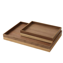 Retro Food Dessert Serving Tray Bread Fruit Holder Dessert Snack Dish Organizer Storage Plate Wood Dinner Plate