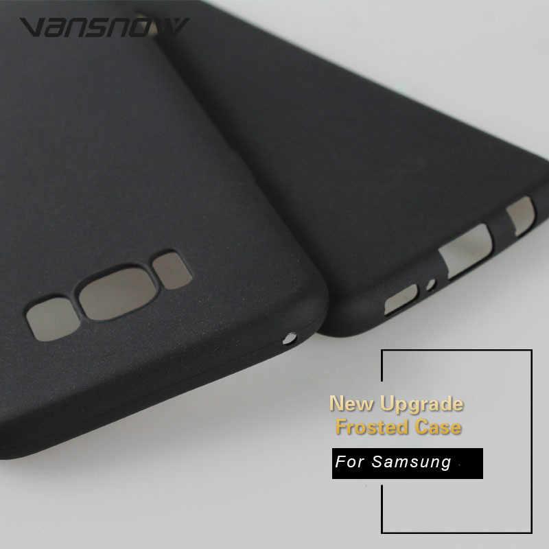 2019 Black Matte Phone Case For Samsung Galaxy A7 A9 A8 J4 J6 P 2018 S8 S9 Plus Note 9 8 J3 J5 J7 2017 A6s TPU Back Cover