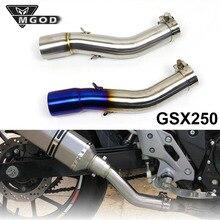 Muffler Exhaust-System GSX250R Middle-Pipe DL250 SUZUKI Moto-Tube Mid-Escape Slip-On