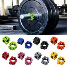 2 Pcs Gewicht Heben Spinlock Barbell Kragen Bodybuilding Training Hantel Clips Clamp mit Mutter Fitness Ausrüstung Zubehör